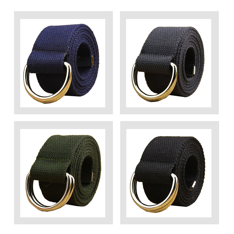 MaiKun Cinturones de lona para mujer Cinturón de hombre con hebilla - Accesorios para la ropa - foto 5