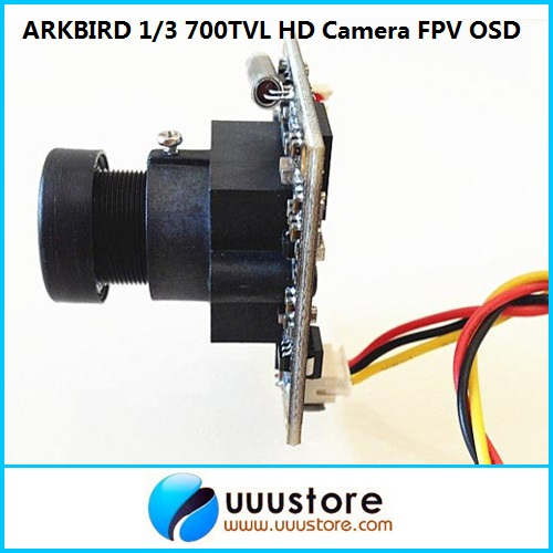 Arkbird Flight Control Plug and Play 1/3 700TVL HD Camera FPV OSD System aomway 700tvl hd 1 3 cmos fpv camera pal