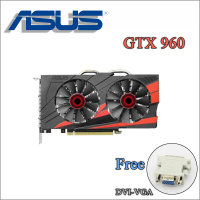 Used Original ASUS GTX960 DC2OC 2GD5 Video Card GTX 960 2GB 128Bit GDDR5 Graphics Cards For