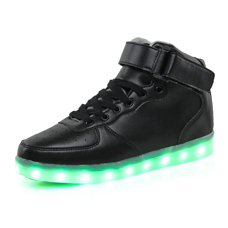 Uşaqlar üçün yüksək ayaqqabılar 7 Rəngli LED işıqlar, USB - Uşaq ayaqqabıları - Fotoqrafiya 3