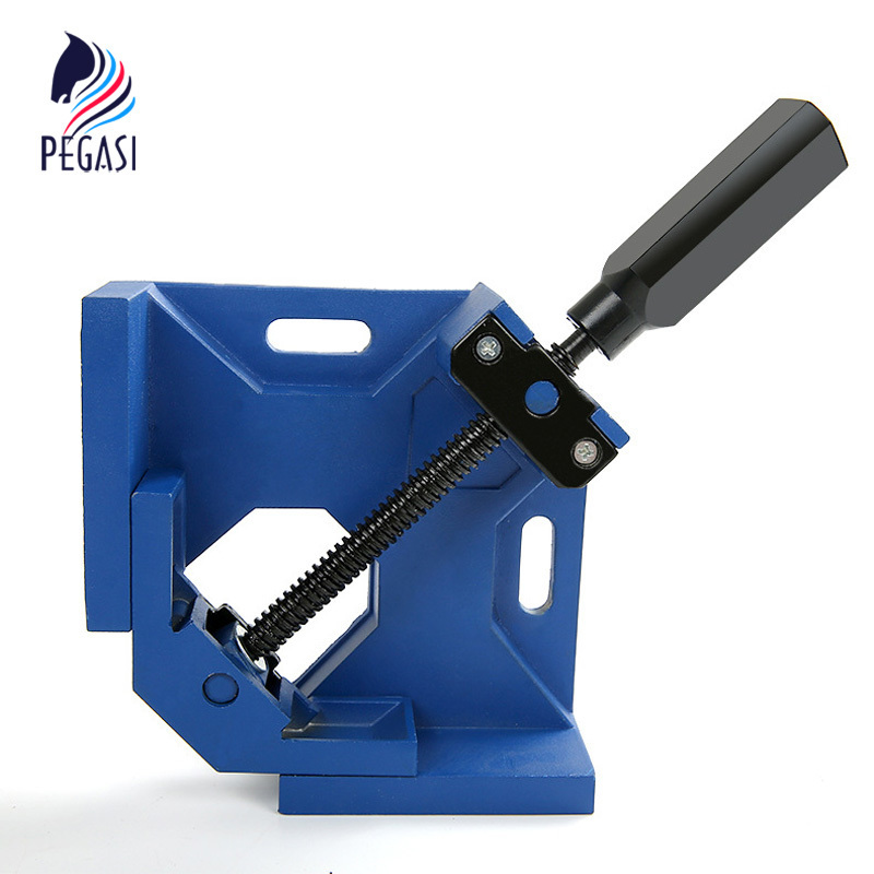 PEGASI high quality90 Degrees Corner Clamp Aluminum Alloy Die-casting Right Angle Woodworking Vice Wood Metal Weld Welding DIY corner clamp angle vise 90 angle great diy home handle tool 100% aluminum alloy corner clamp workbench