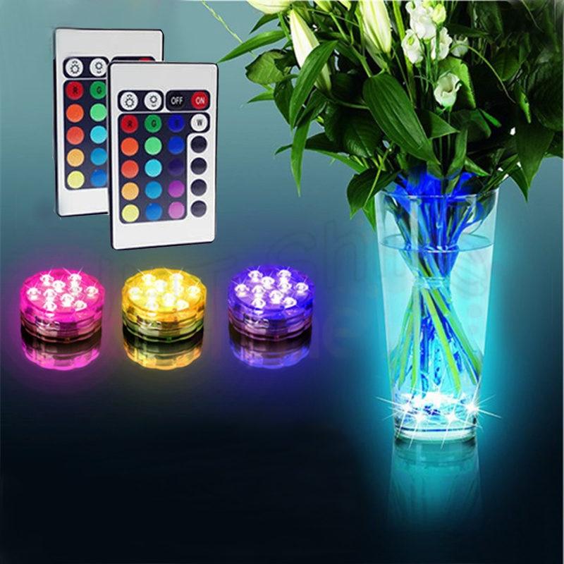 16 unids LED Vela Sumergible Floral Té Luz Vela Intermitente Tabla - Iluminación de vacaciones