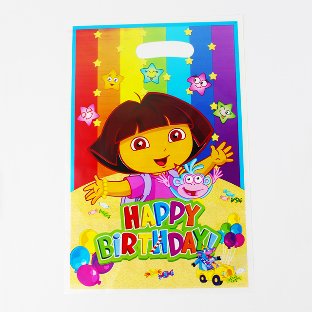 12pcs Loot Bag for Kids Birthdayfestival Party Decoration Dora