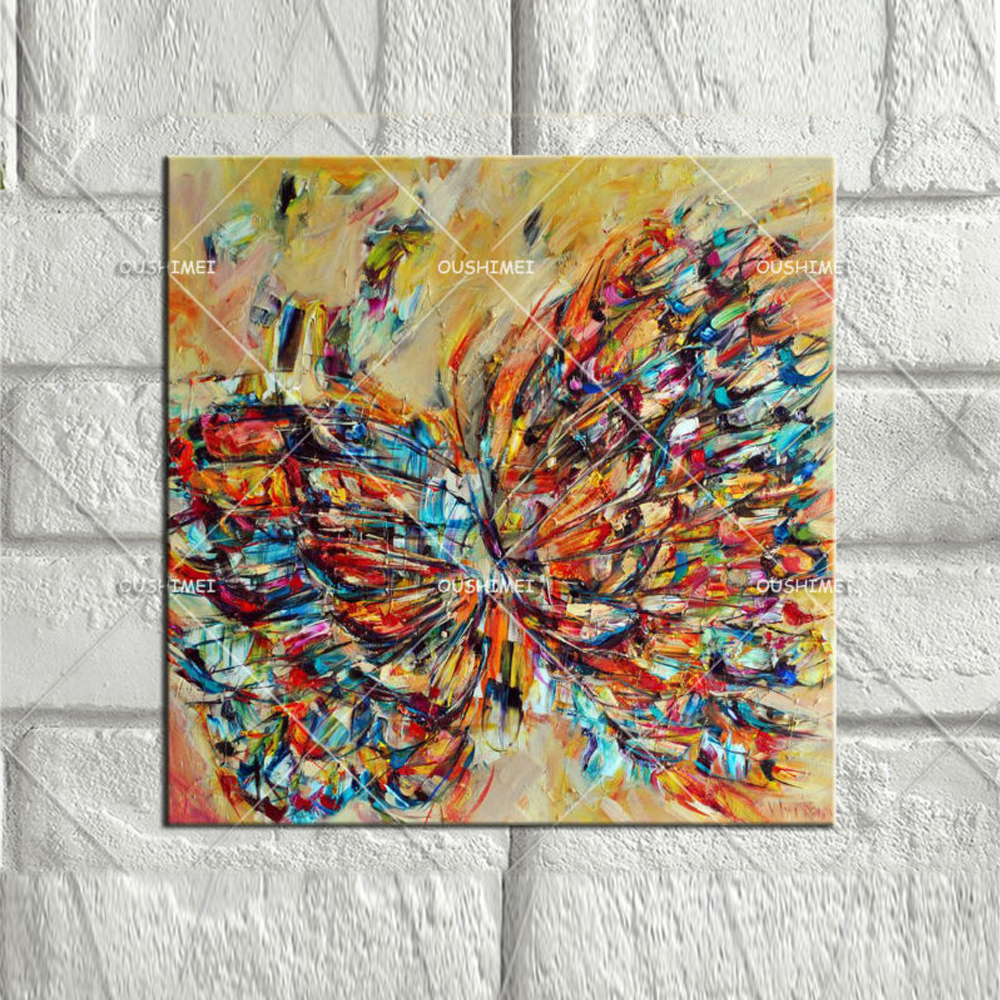 Aliexpress.com : Buy Butterfly Canvas Oil Paintings