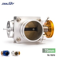 Tansky UNIVERSAL 70mm THROTTLE BODY Silver Blue TK TB70