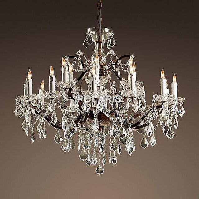 Candelabro de cristal rústico Vintage candelabros lámpara colgante ...