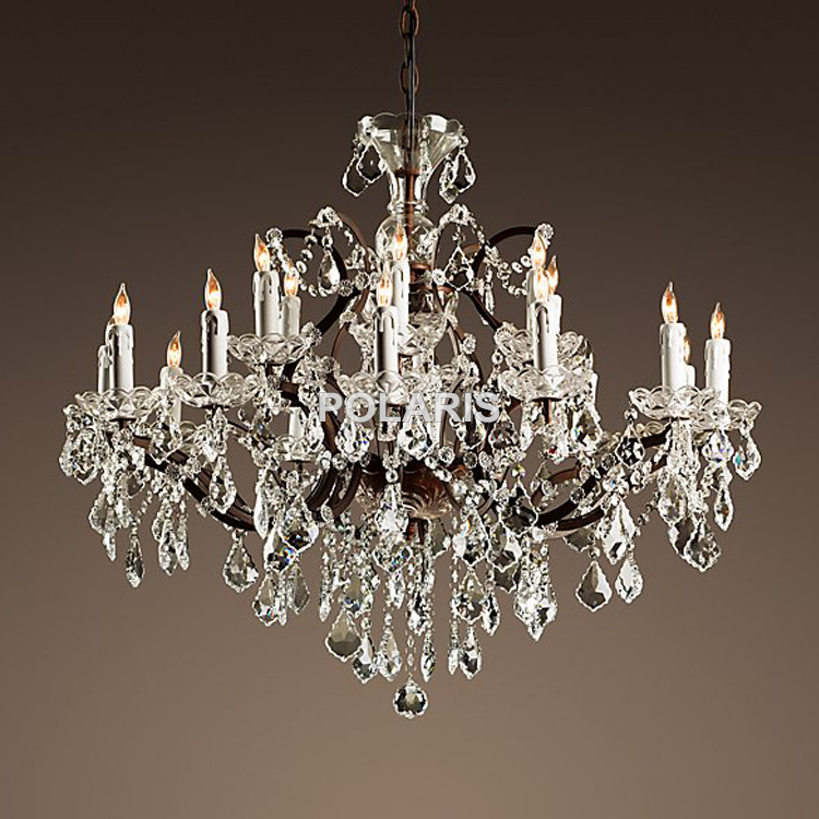 Aliexpress Com Buy Vintage Rustic Crystal Chandelier