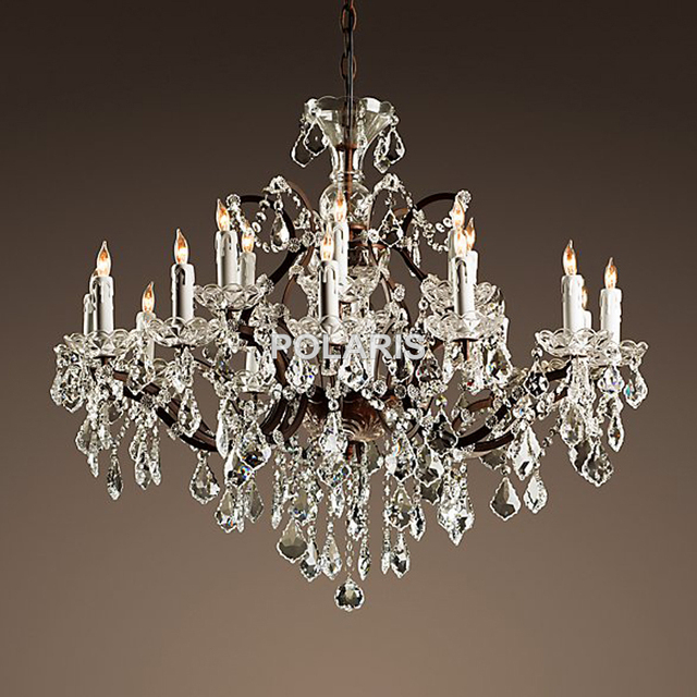 Vintage Rustic Crystal Chandelier Lighting Candle Chandeliers