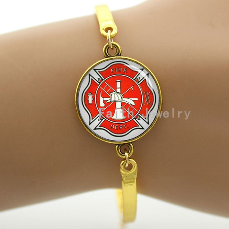 Maltese Cross Firemen Symbol Of Personalized Firefighter Bracelet 2017 Fashion Women Jewelry 914 In Chain Link Bracelets From Accessories On