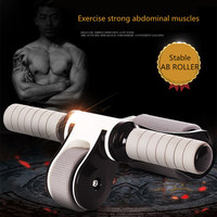 Ab Roller Foldable No Noise ABS Abdominal Muscle Trainer for Fitness Reduce Weight Abdominal Muscles Training Stimulator