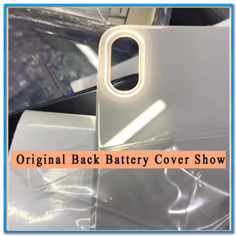 1Pcs Original or A Quality For iPhoneX iPhone X Back Battery Cover Rear Glass Housing Case+Adhesive Sticker Repair Replacement