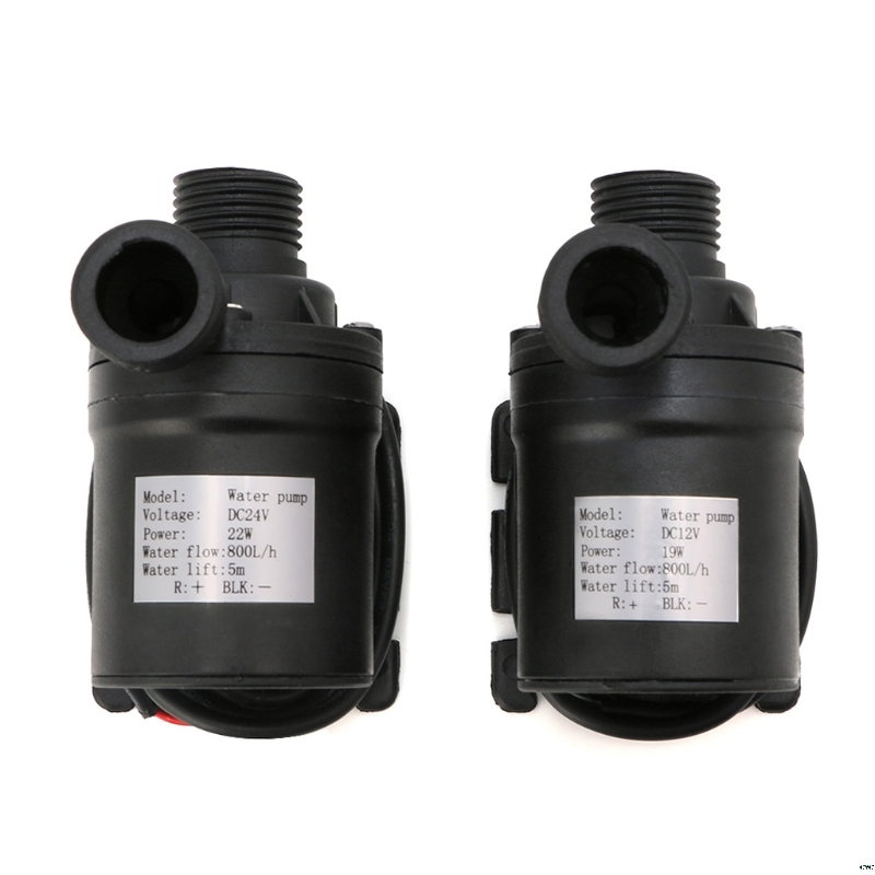 1pc  800L/H 5m DC 12V 24V Solar Brushless Motor Water Circulation Water Pump Submersibles Water Pumps