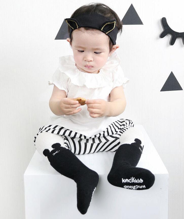UK Baby Kids Girls Unti-slip Cotton Tights Socks Stockings Hosiery Pantyhose