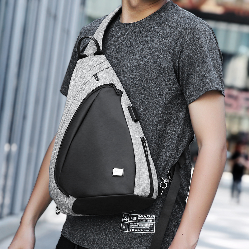USB Recharging Chest Sling Bag - Multi-functional Shoulder Bag 4