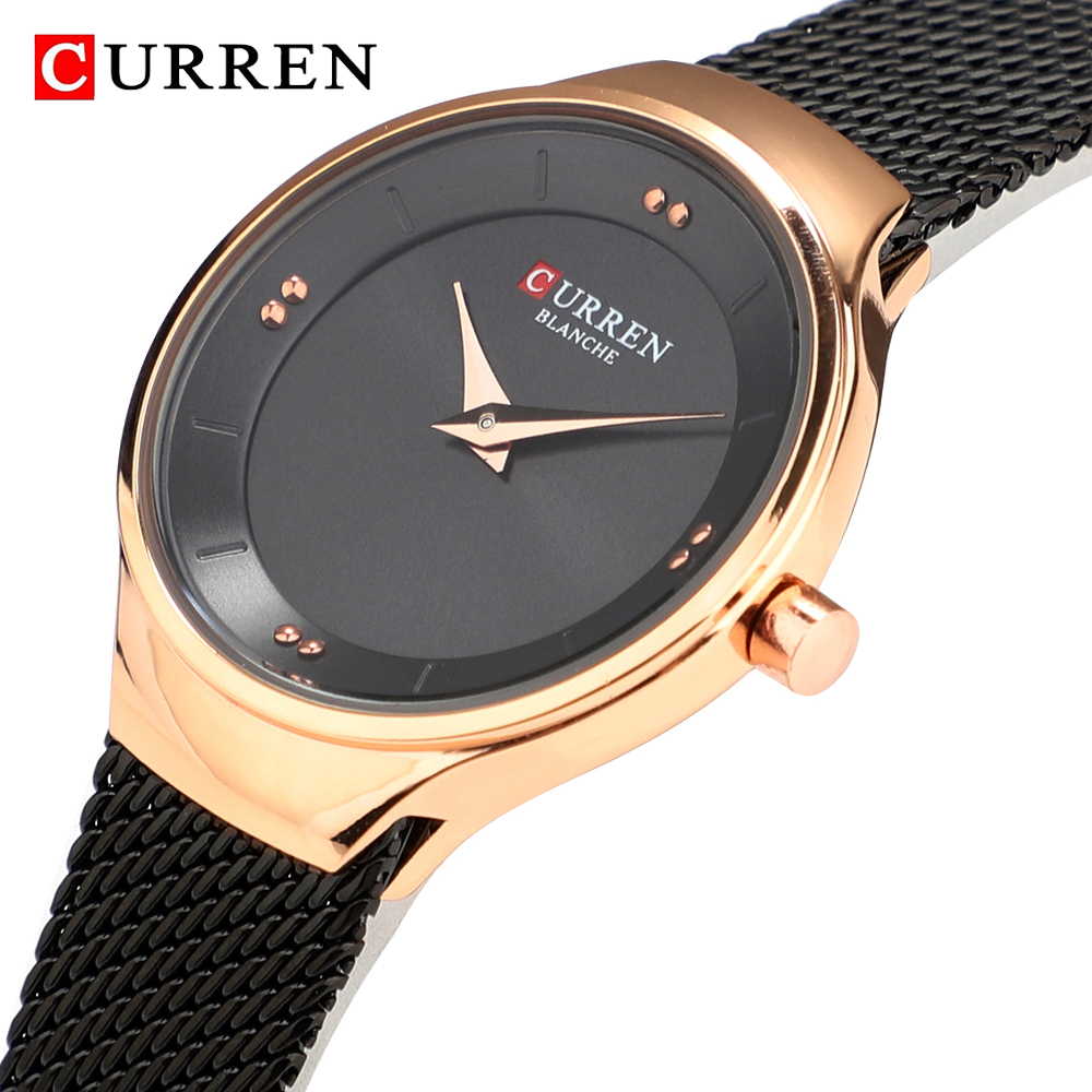 CURREN Women Watches New Luxury Brand Analog Clock Watch Ladies Waterproof Stainless Steel Quartz Wristwatch Relogio Feminino