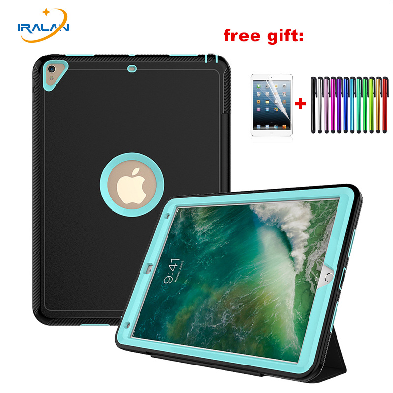 Luxury PU Leather Smart Cover For iPad Pro 10.5 Heavy Duty Protective Auto Wake Case For Apple iPad Pro 10. 5 inch 2017+film+pen for apple ipad air 2 pu leather case luxury silk pattern stand smart cover