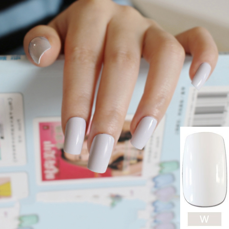 New 24pcs/set White Long False Nails Nep nagels Fake Nails for Nail ...
