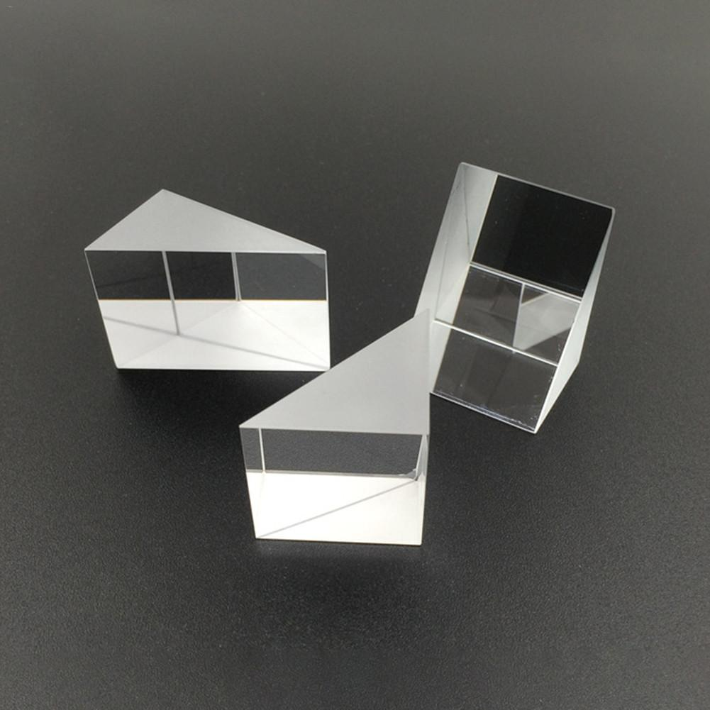 10mm*10mm*10mm Optical Glass Triangular Prisms Right Angle Isosceles Prisms Lens Optical K9 Glass Material Testing Instrument