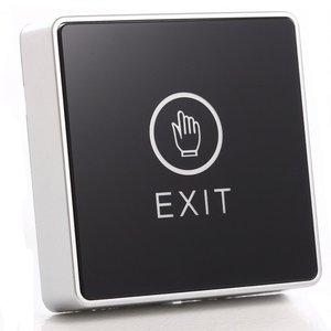 Image 1 - 黒タッチボタン12ボルトnc noドア出口リリースボタンスイッチ用アクセス制御付きledスクエアタイプ
