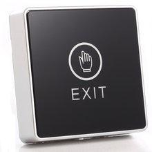 Zwart Touch knop 12 V NC GEEN Deur Exit Vrijgaveknop Schakelaar Voor Toegangscontrole Met LED Vierkante Type
