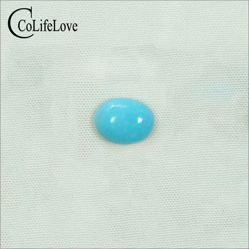 6mm*8mm 100% Real Turquoise Loose Gemstone No Treatment Turquoise Gemstone for Jewelry Shop