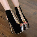 2017 New Spring Sexy Cut-outs Gladiator Shoes Woman Heel Slingbacks Thin High Heel Platform Open Toe Office Ladies Shoes
