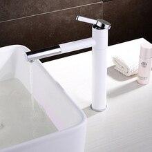 Высокое качество 360 градусов вращения Носик белый ванной кран горячей/холодный бассейна кран белый для искусства бассейна
