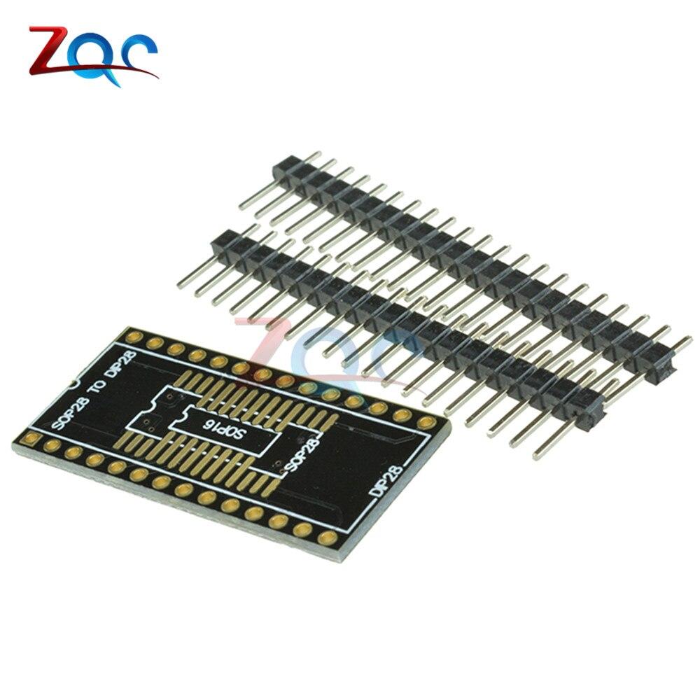5pcs SOP16 SOP28 TO DIP16 DIP28 SSOP28 TO DIP28 adapter PCB conveter board ...