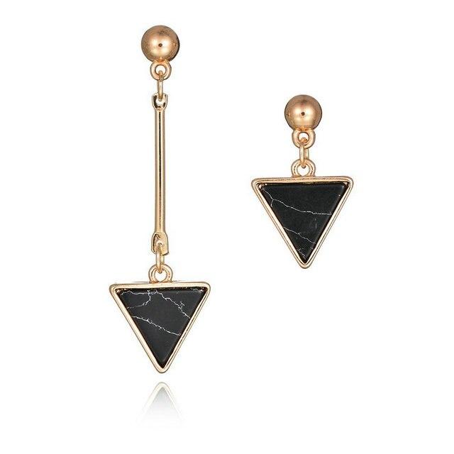 Мода золота, серебра, позолоченный темперамент кисточкой серьги треугольник клад асимметричные серьги стержня кулон ювелирные изделия для женщин