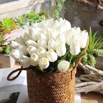 5 Pcs Artificial Fake Flowers Tulip Bouquet Floral Wedding Bouquet Party Home Decor      x30401