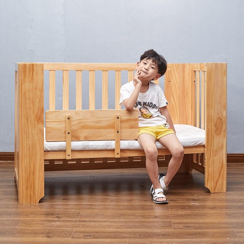 Lit bébé multifonction berceaux en bois pour bébé lit enfant naturel Babybett coffre-fort Simple Designer lit de transport réglable lit bébé