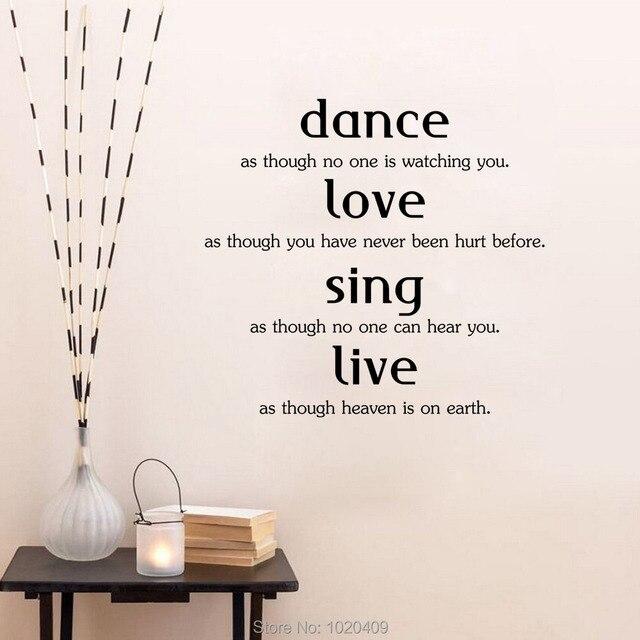 dans spreuken Leven woorden muursticker Woninginrichting decoratieve dans  dans spreuken