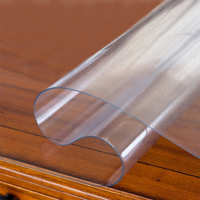 Ronde tanche en pvc transparent nappe couverture de table - Protection de table transparente ...