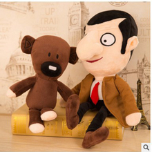 30cm.Bean Teddy Bear Plush Toy Movie Mr Bean Teddy Bear Cute Plush Filled Toys Mr Children's Birthday Gifts недорого