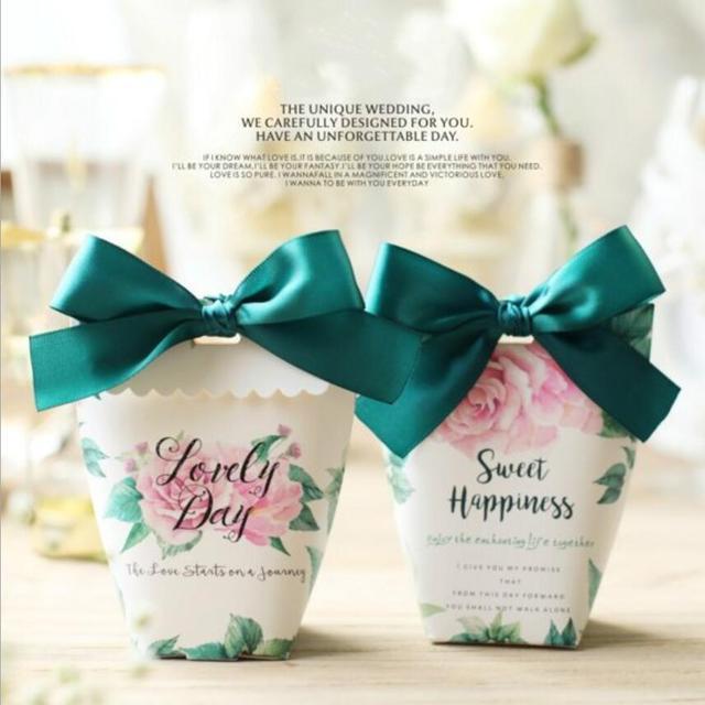 10 Stucke Hochzeitsgeschenke Box Papier Sussigkeitskasten Gunsten Diy