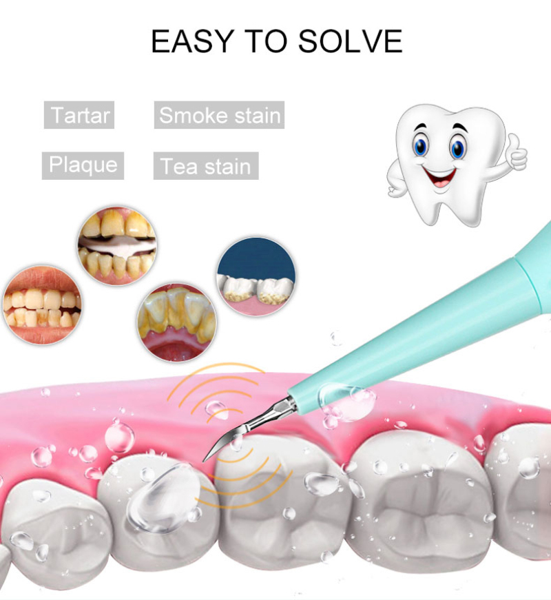 Drop Ship Portable Electric Sonic Dental Scaler Tooth Blanqueador Dental Health Hygiene Remover Tooth Stains Tartar Tool Dentist