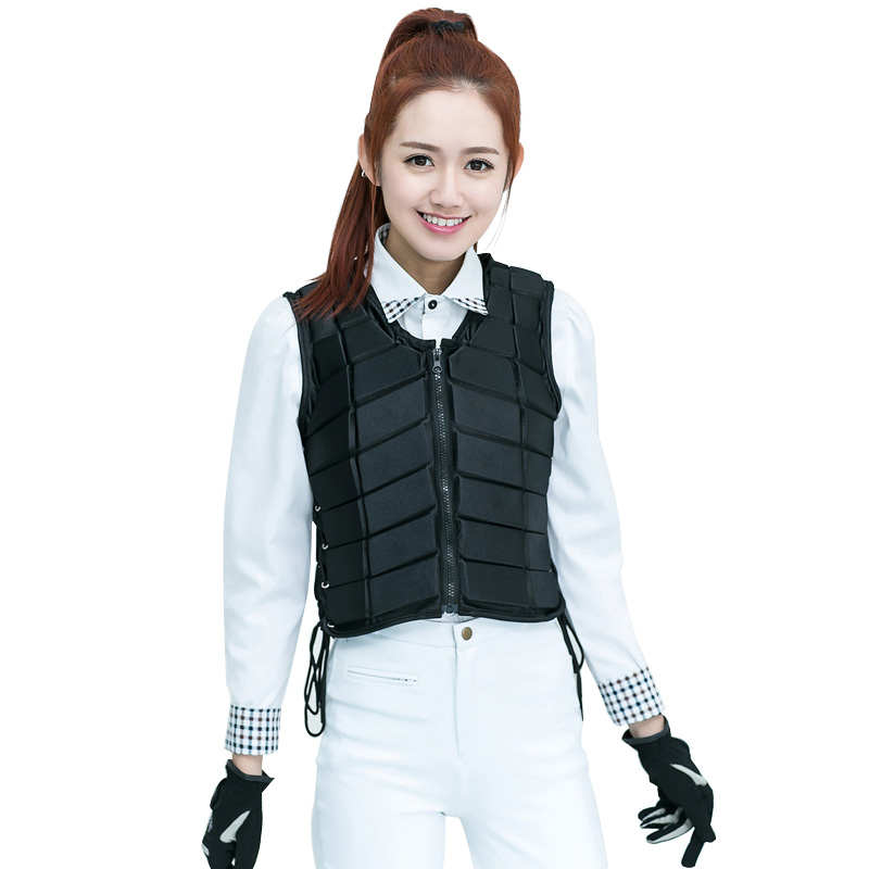 Купить с кэшбэком Unisex Horse Riding Protection Vest Waistcoat Safe Equestrian Eventer Body Unisex Race Armor Adjustable EVA Protector Jacket A
