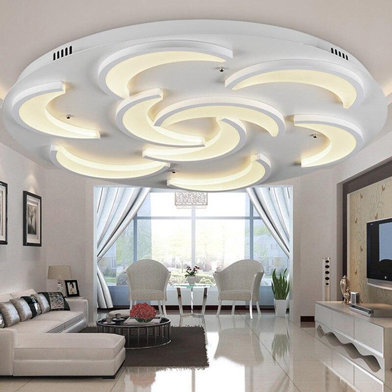 Encastr Moderne Plafonnier Pour Salon Lune Mod Le