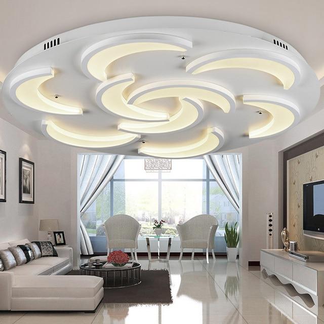Flush Mount Modern Ceiling Light For Living Room Moon Model Acrylic Light  Guide Plate Lamparas Techo