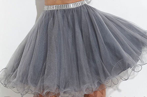 508dac2cea Hot Sale Silver Grey Beaded Short Tulle Two Piece Prom Dress 2017  Homecoming Gowns For Girls Crystal Design-in Prom Dresses from Weddings    Events on ...