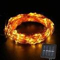 Solar LED Luz de la Secuencia 10 M 100 Led de Hadas de Cuerda de Alambre de Cobre A Prueba de agua para Al Aire Libre, Jardines, Casas, de la boda, Decoración Del Día de Fiesta