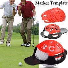 6 w 1 Golf Ball Line Liner marker szablon rysowanie linii trasowania znaczniki znak narzędzie czerwony tanie tanio Golf Scriber Accessories