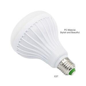 Image 4 - Akıllı E27 12W ampul LED ampul RGB ışık kablosuz Bluetooth ses hoparlör müzik çalma dim lamba ile 24 anahtar uzaktan kontrol