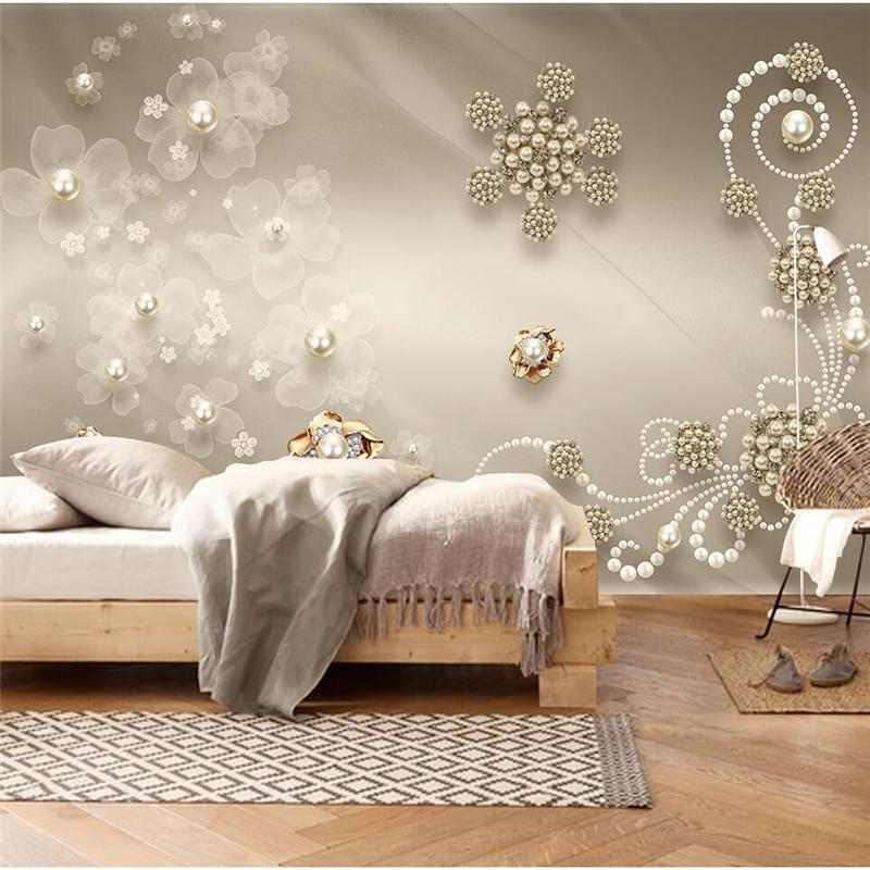 beibehang Custom wallpaper 3d photo mural jewelry pearls modern minimalist fashion living room background wallpaper 8d mural 5d beibehang custom photo wallpaper mural