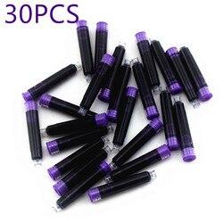 Wholesale 30pcs Disposable purple Fountain Pen Ink Cartridge Refills Length Fountain Pen Ink Cartridge Refills