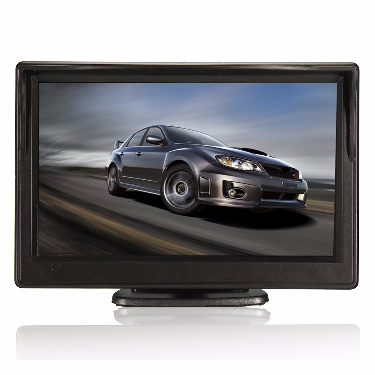 Universal 5'' TFT LCD Display Car Monitor Waterproof Night Vision Reversing Backup Display VCR DVD High Resolution HD Car Screen