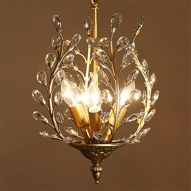 American Country Restaurant Mediterranean Chandelier Crystal European Style Luxury Retro Fg435