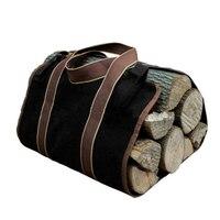 Новый суперсайзд холст дрова дерево сумка журнала Кемпинг Открытый держатель сумка для хранения