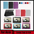 3 en 1 Litchi Pu del cuero del soporte cubierta para Acer Iconia Tab A1-810 tablet para Acer Tab A1 810 + Stylus + Screen Film