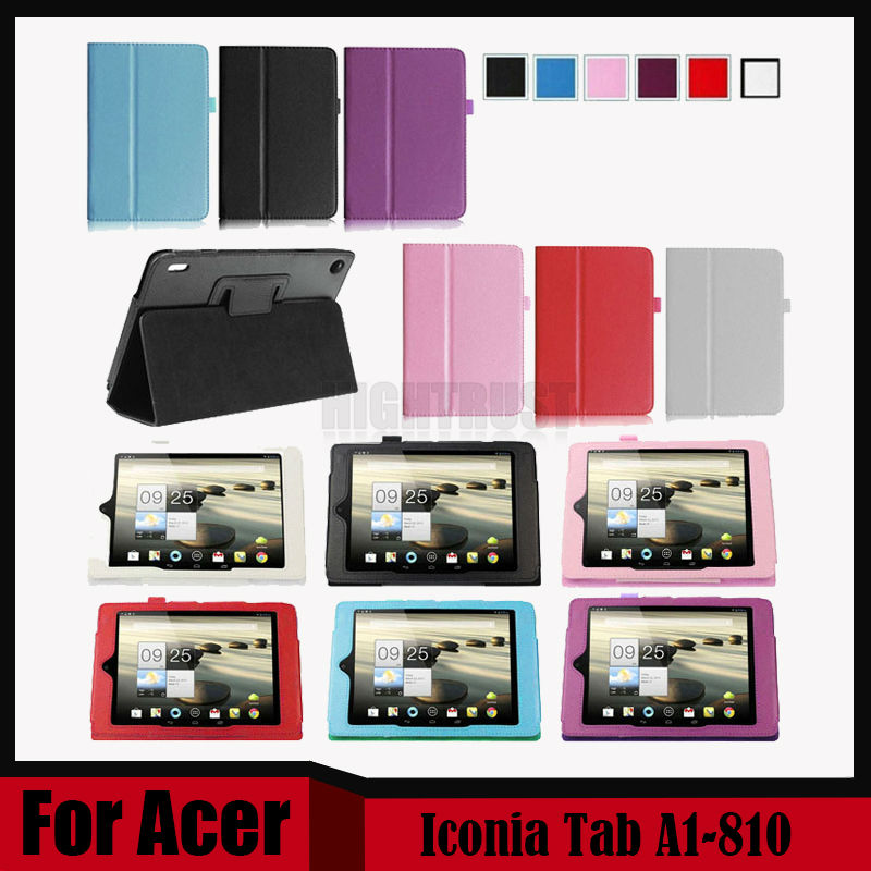 3 in 1 Litchi Pu leather stand case cover For Acer Iconia Tab A1-810  tablet for Acer Tab A1 810 + Stylus + Screen Film st car dashboard heat light insulation polyester pad for toyota rav4 black